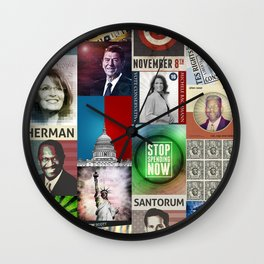 Conservatives Collage Wall Clock