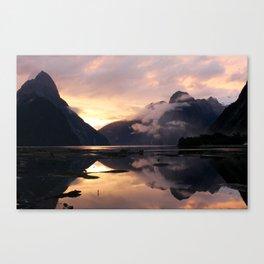 Milford Sound Sunset Canvas Print