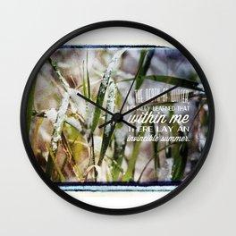 Invincible Summer. Wall Clock
