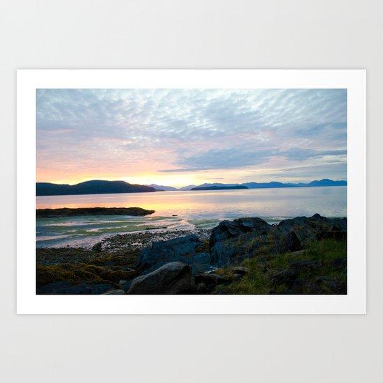 Rocky Sunset Art Print