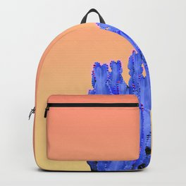 Blue Cactus at Sunset Backpack