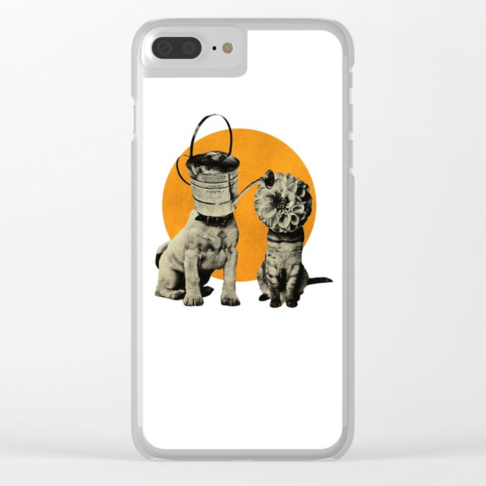 Cats&Dogs Clear iPhone Case