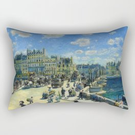 "Auguste Renoir ""Pont Neuf, Paris"" Rectangular Pillow"