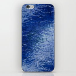 Wind-whipped Vines (blue) iPhone Skin