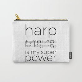 Harp is my super power (3) (white) Carry-All Pouch