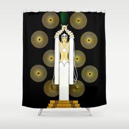 "Art Deco Design ""The Emerald Vase"" Shower Curtain"