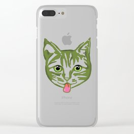 Mollycat Green Clear iPhone Case