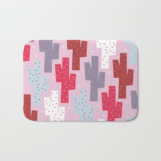 Sweet cactus pattern Bath Mat
