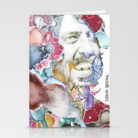 dave grohl Stationery Cards featuring Dave Grohl by Bethan Eastwood