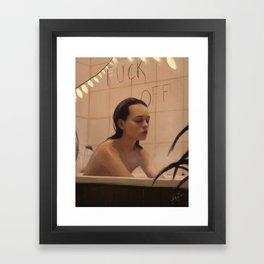shower thoughts Framed Art Print
