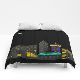 Wichita, Kansas Skyline Comforters