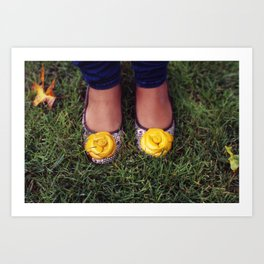 Yellow Flower Shoe! Art Print