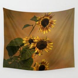 Origin Of Sunflowers  Wall Tapestry
