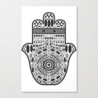 hamsa Canvas Prints featuring Hamsa by Paint it graphics