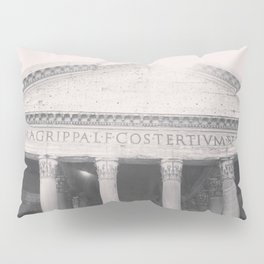 The Pantheon, fine art print, black & white photo, Rome photography, Italy lover, Roman history Pillow Sham