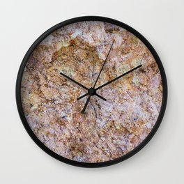 Abstract orange granite pattern Wall Clock