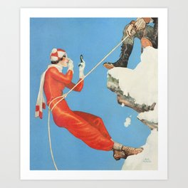 Looking good in the mountains Art Print