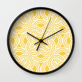 California, Nautical, Beach, Geometrical Pattern Wall Clock