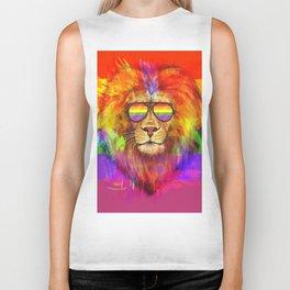Rainbow Lion Pride Biker Tank