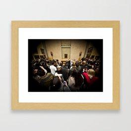 Harassing La Gioconda Framed Art Print