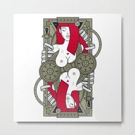 Eva Jack of Hearts - Young Eva Metal Print