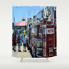 HB Community (Surf City USA) Shower Curtain