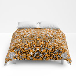 Bled Out Orange Comforters