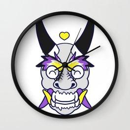 NON-BINARY PRIDE Oni Wall Clock