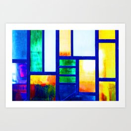 Art Deco Colorful Stained Glass Art Print