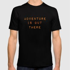 ADVENTURE IS OUT THERE MEDIUM Mens Fitted Tee Black