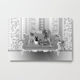 Animals Family Baroque Couch  Metal Print