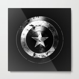 Captain Shield-USA-Star-Eroded Metal Print