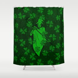 Vintage Skull St Patricks Day Retro Distressed Shower Curtain