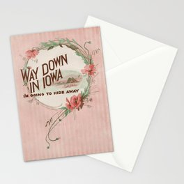 Way Down in Ioway Stationery Cards