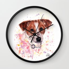 Kelly white background Wall Clock