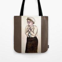 nurse Tote Bags featuring Nurse by CokecinL