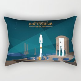 Vostochny Cosmodrome Rectangular Pillow
