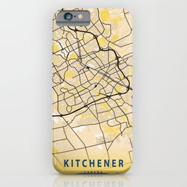 Kitchener Yellow City Map iPhone Case