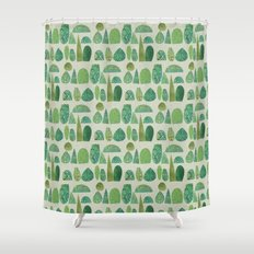 Watercolour Topiary Shower Curtain