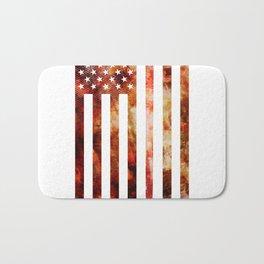 Ice Hockey USA Flag Bath Mat
