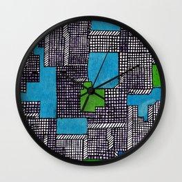 Blokz 4 Wall Clock