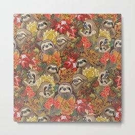 Because Sloths Autumn Metal Print