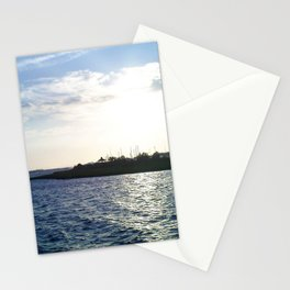 Sunset in the Harbor Stationery Cards