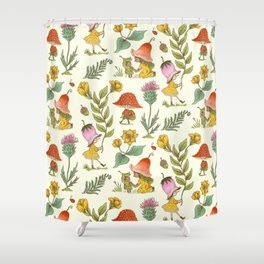 Summer Fairy Folk Shower Curtain