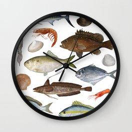 Fish Poster 01 Wall Clock