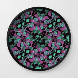 Floral Arabesque Pattern Wall Clock