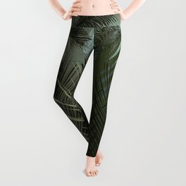 Jungle pampa forest. Tropical green forest with palms Leggings