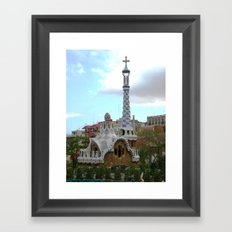 Barcelona, Spain. Parque Guell. Framed Art Print