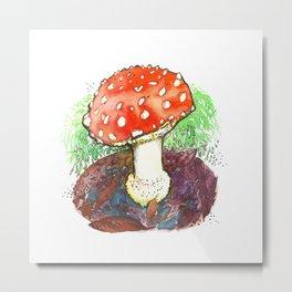 The Perfect Mushroom Metal Print