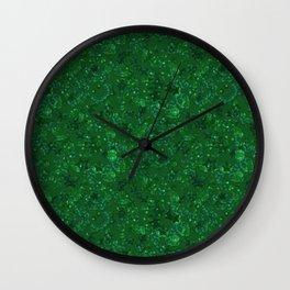 Green shiny confetti Wall Clock